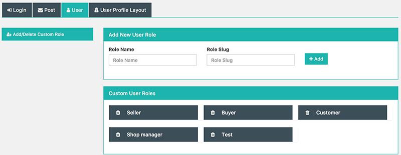 Custom User role