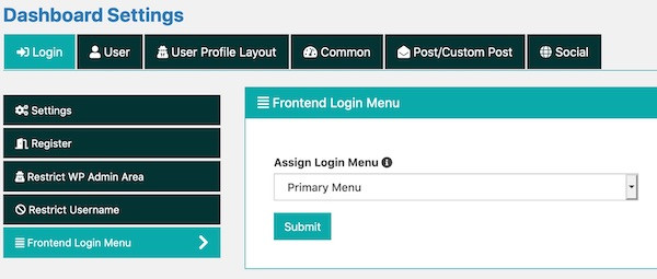 How to show login or dashboard and logout menu